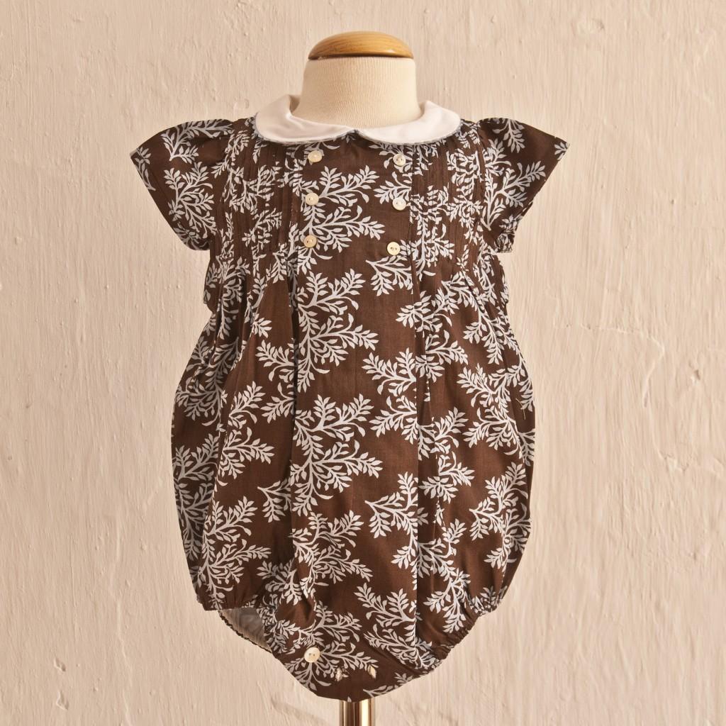 Ranita marrón chocolate de Oh Soleil: T 3-6M T9-12M T12-18