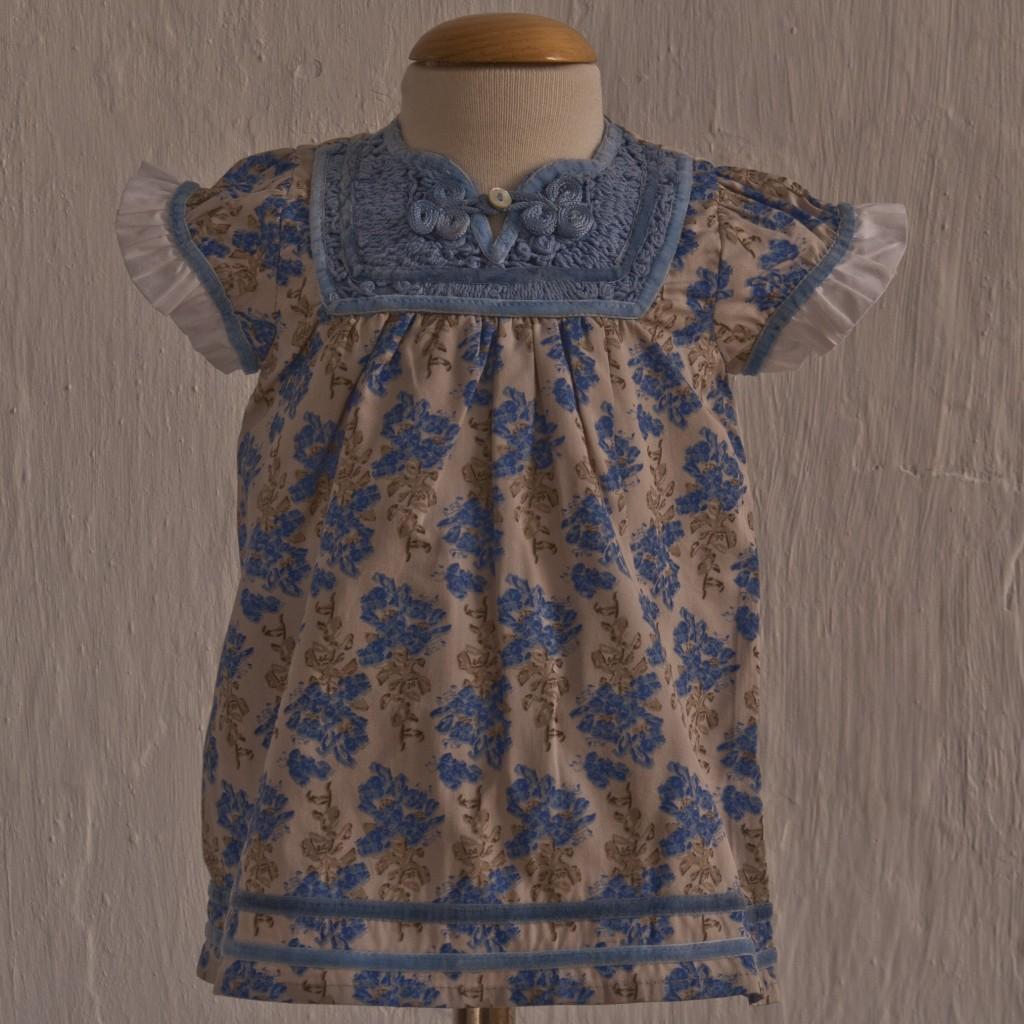 Vestido Azul Beige de Oh Soleil: T 3-6M T 6-9M