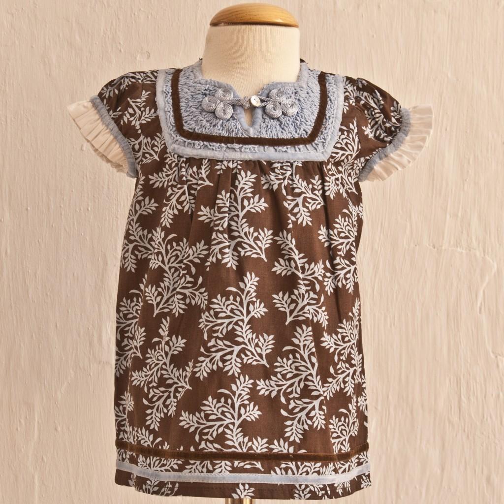 Vestido Marron Chocolate de Oh Soleil: T 3-6M T 6-9M T9-12M