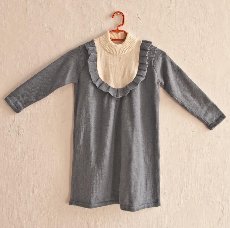 Vestido punto azul-blanco de Oh Soleil: T8-10-12 AÑOS