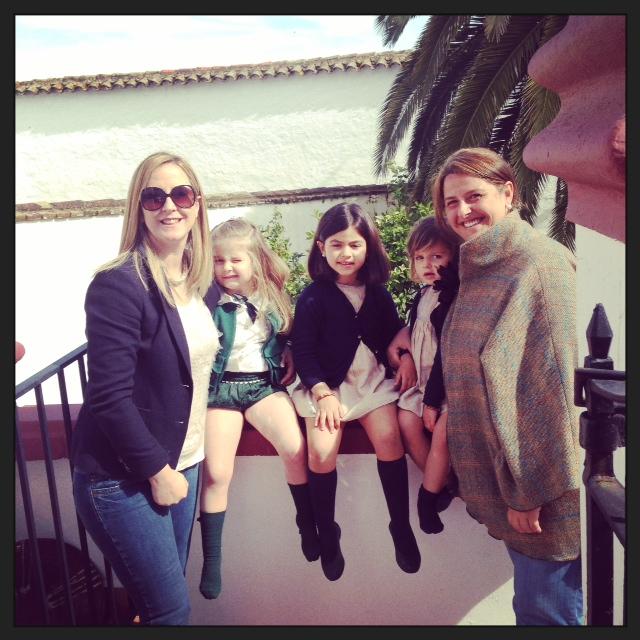 Con Paula y las niñas...