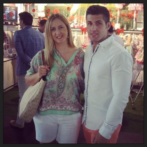 Con Jose de MI MAMA ME MIMA