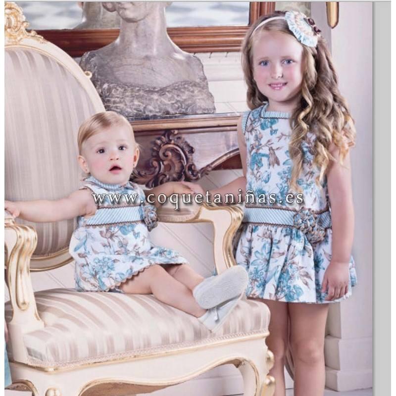 TALLAS DE LA 2 A LA 10  EL Pelele del bebe solo 31.90€  y el vestido de niña 40.90€