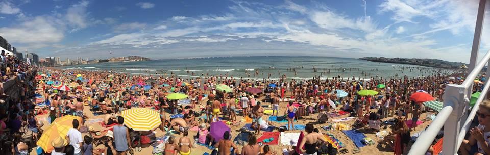 Nunca vi la playa así...