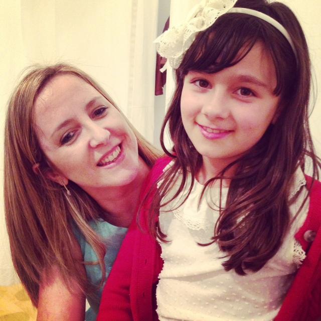 con mi pequeña Lucia... la adoro