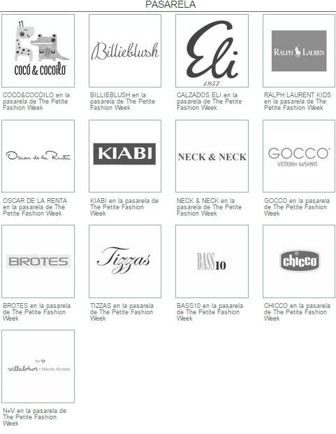 Todas estas marcas desfilan.
