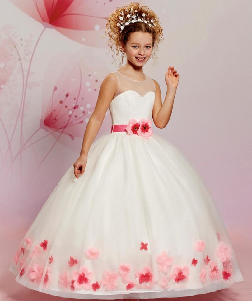 Children-First-Communion-font-b-Dresses-b-font-Red-font-b-Flowers-b-font-font-b